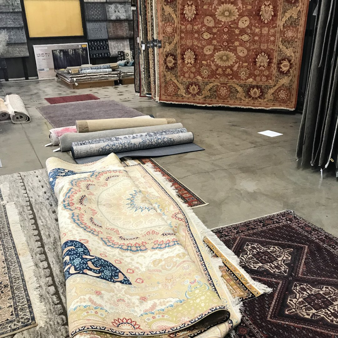 Oriental Rug and Carpet Clinic store front. Ibraheems.com showroom